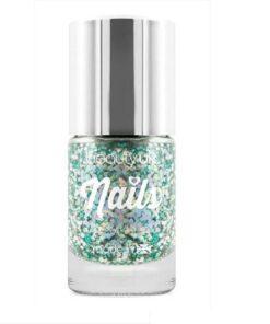 Beauty UK Glitter Nail Polish - Aurora Dream Green