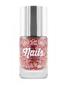 Beauty UK Glitter Nail Polish - Astral Stars Red