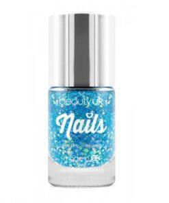 Beauty UK Glitter Nail Polish - Supernova Blue
